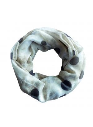 Loop sjaal met bolletjes motief