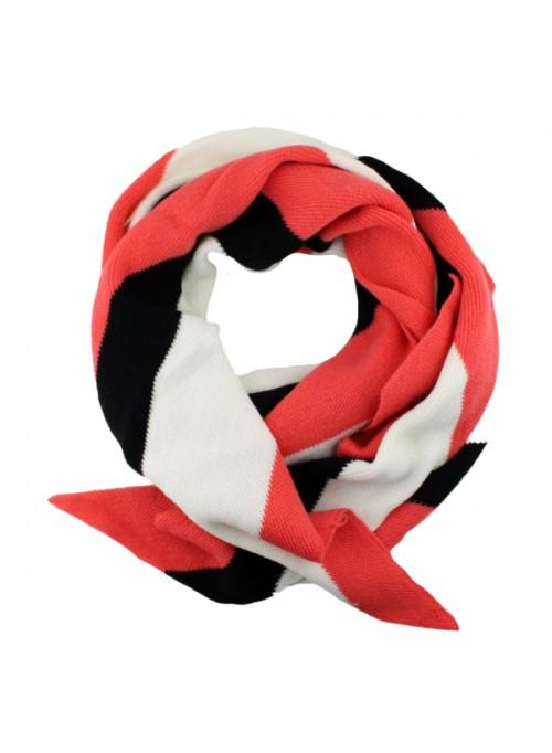 edefc92d082 Herfst / Winter Sjaal - Rood/Wit/Zwart