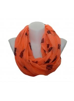 Loop sjaal met uil motief